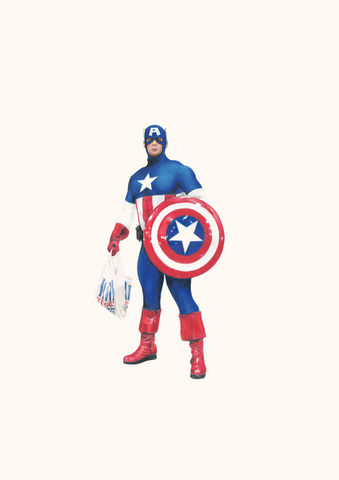 'Captain,America',Coloured Pencil, Drawing, Superheroes, print, captain america