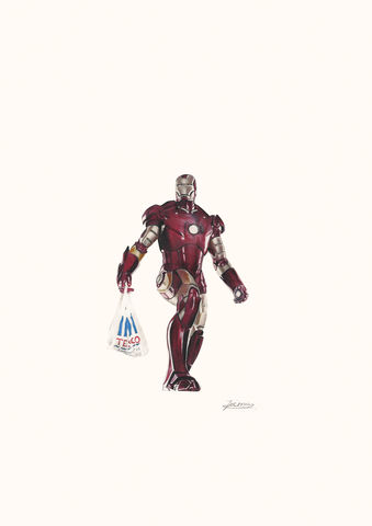 'Iron,Man',Coloured Pencil, Drawing, Superheroes, print, ironman