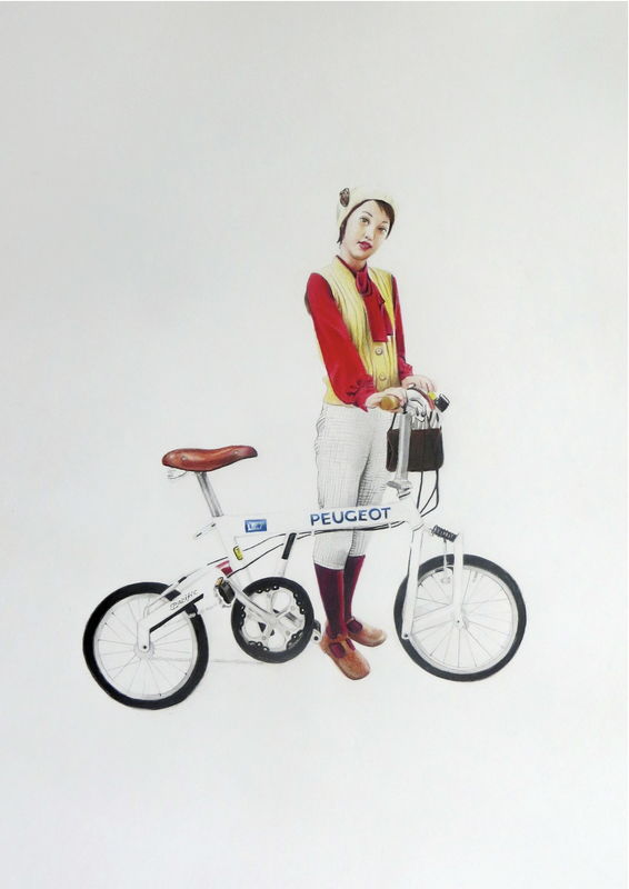 'Girl With Bike' - product images