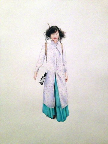 'Hide',Coloured Pencil, Drawing, Harajuku Series, japanese, print