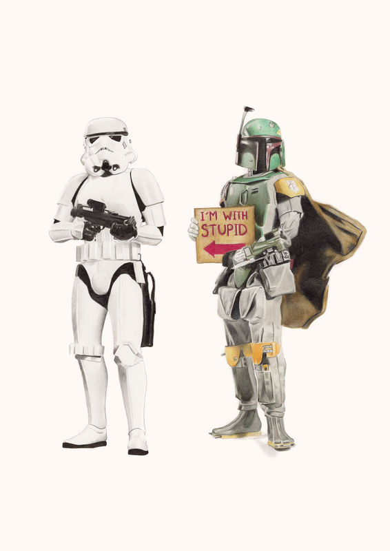 'I'm with stupid-Boba Fett' - product images