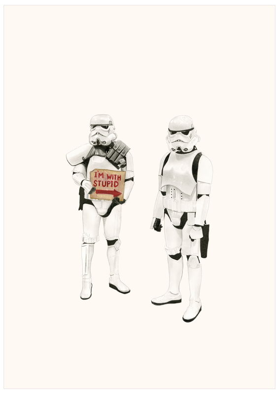 'I'm with stupid-Stormtroopers' - product images