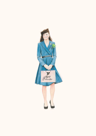 'Kate,shops,for,goodies',Coloured Pencil, Drawing, Icons, kate middleton, print