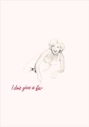 'I,don't,give,a...',Coloured Pencil, Drawing, Icons, print, marilyn monroe