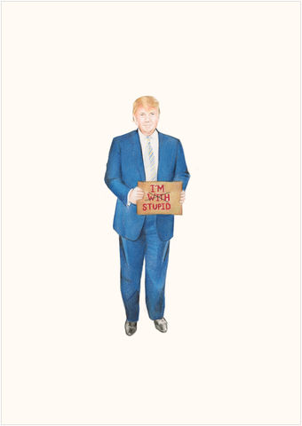 Trump,drawing, colour pencil, pencil,