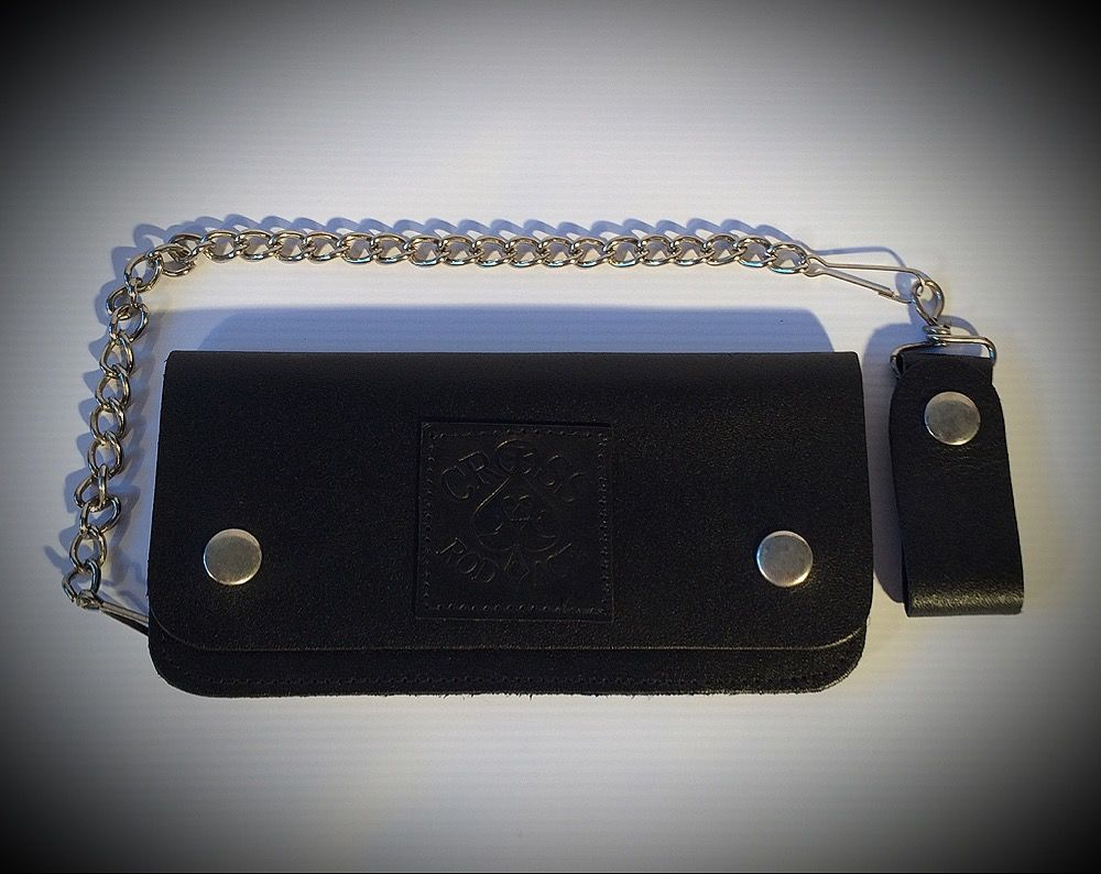 Black Biker Leather Wallet with Chain - product images  of