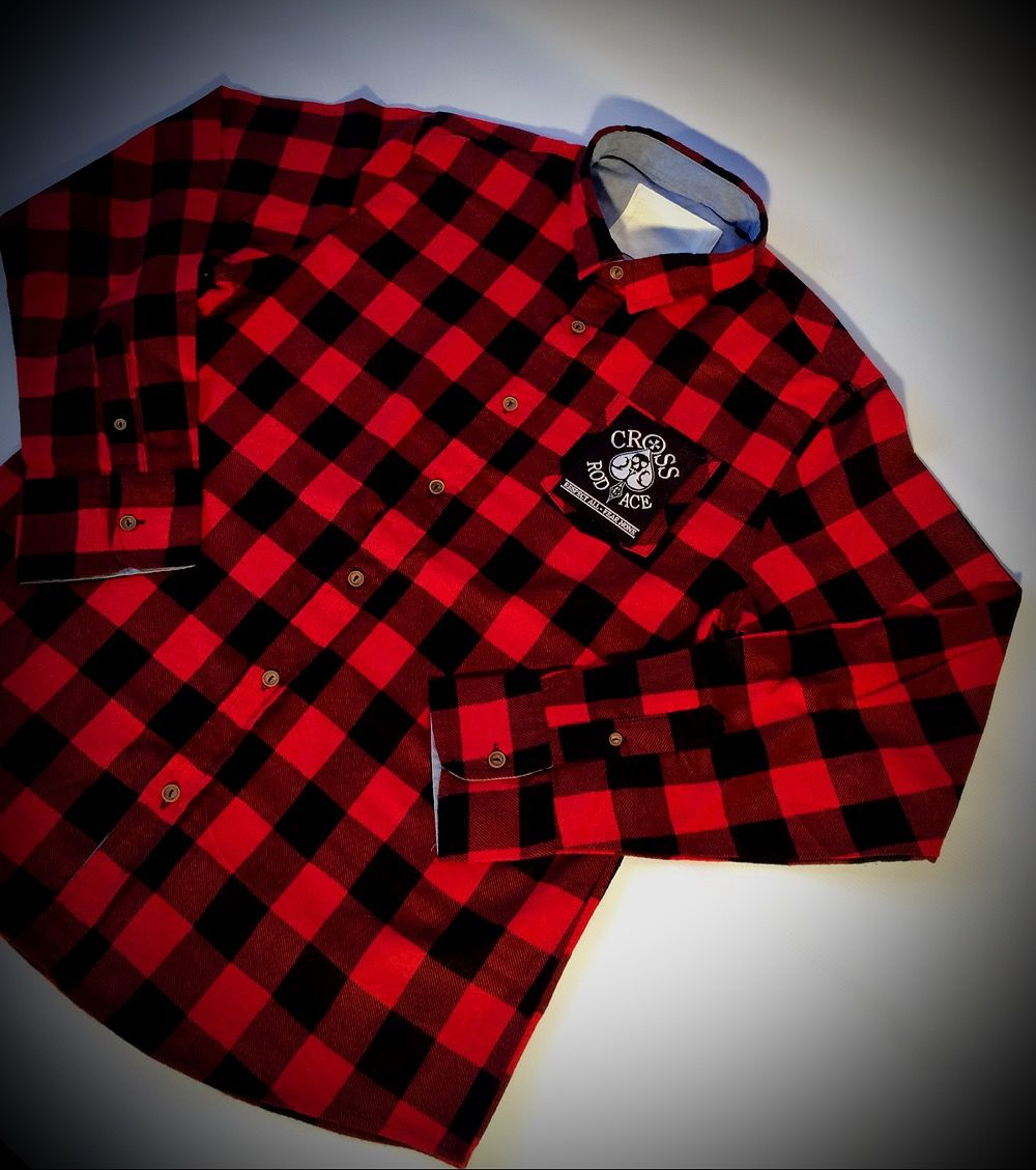 Lumberjack Brushed Flannel Check Shirt - Red/Black - product images  of