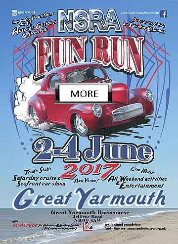 2nd / 3rd / 4th June 2017   National Street Rodders Association NSRA Fun Run -GREAT YARMOUTH