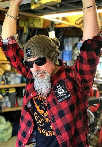 Lumberjack,Brushed,Flannel,Check,Shirt,-,Red/Black,Cross, Rod, Ace, www.CrossRodAce.com, CrossRodAce, Brushed, Flannel, Check, Warn, Biker, Hotrodder, Men, Long, Sleeved, Shirt, Hotrod, hot, rod, cars, bikes, choppers, bobber, hotrodder, kustom, lowrider, low, rider, drag, racing, racer, dragracer, hell d