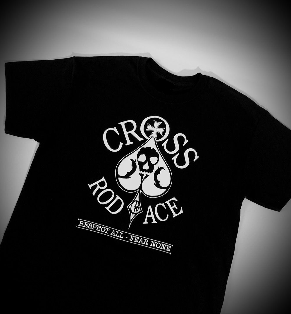 Original 'Cross RodAce' Black Tee/Tshirt - product images  of