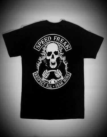'Speed,Freak',Hotrodder,Black,Tee/Tshirt,Cross, Rod, Ace, www.CrossRodAce.com, CrossRodAce, Biker, Hotroder, Black, Original, Speed, Freak, Hotrroder, Tee, Crew, Neck, Tshirt, TeeHotrod, hot, rod, cars, bikes, choppers, bobber, hotrodder, kustom, lowrider, low, rider, drag, racing,