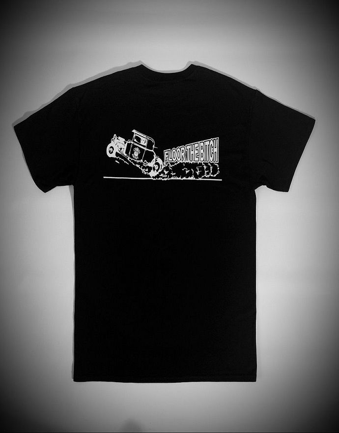'Floor The Bitch' Tee/Tshirt - Black - product images  of