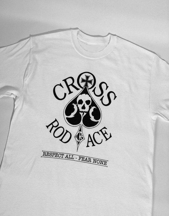 Original 'Cross RodAce' White Tee/Tshirt - product images  of