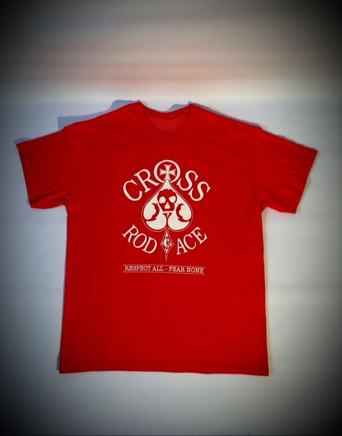 Original 'Cross RodAce' Red Tee/Tshirt - product images  of