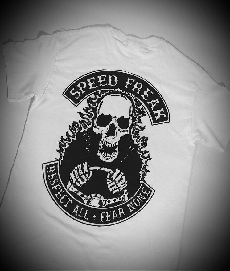 'Speed Freak' Hotrodder White Tee/Tshirt - product images  of