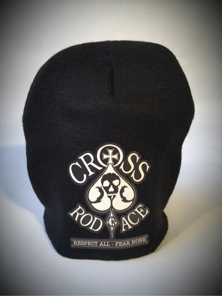 CrossRodAce Black Flat Beanie Hat - product images  of