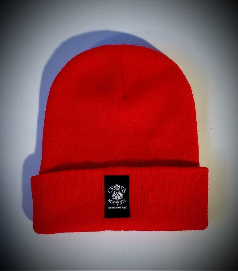 Alaska Woolly Red Beanie Hat with Woven Patch - product images  of