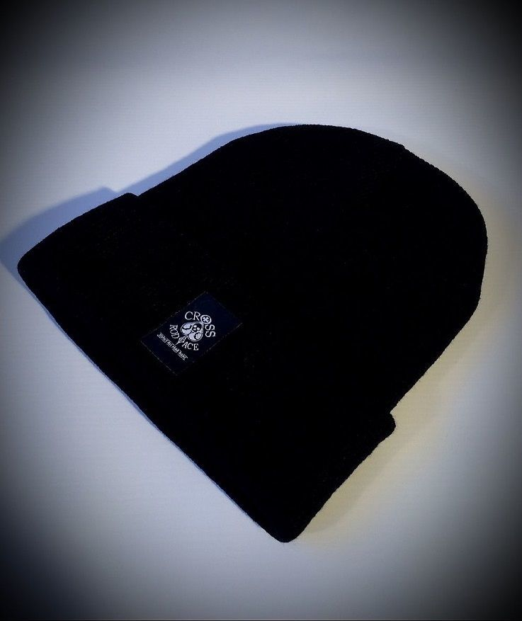 Alaska Woolly Black Beanie Hat with Woven Patch - product images  of