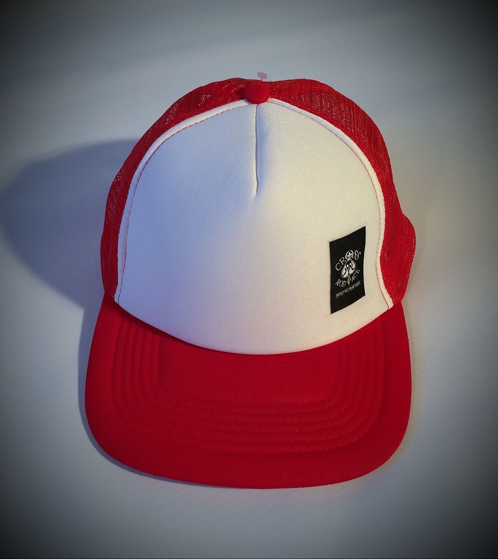 Snapback Trucker Cap with Side Patch - Red/white - product images  of
