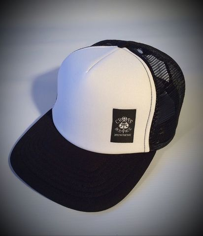 Snapback,Trucker,Cap,with,Side,Patch,-,Black/White,men trucker cap, women trucker cap, women snapback trucker cap, snapback trucker hat, snapback trucker cap, black white snapback trucker cap, black white trucker cap, black white snapback, black snapback, men trucker cap, men snapback, cool trucker cap, c