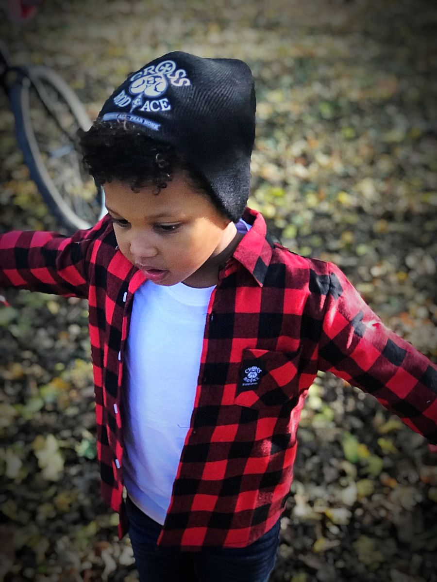 8c5198f65 ... Boys Lumberjack Brushed Flannel Kids Check Shirt - Red/Black - product  images of ...