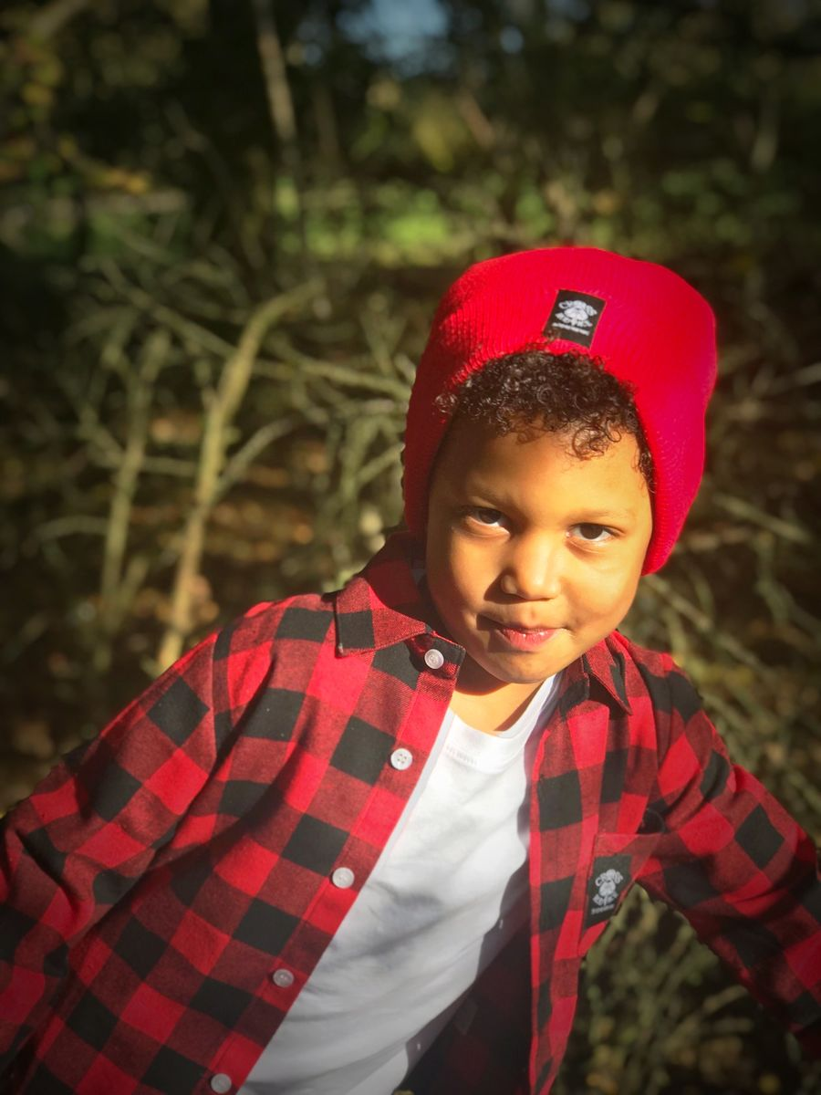 Cool Kids Red Woolly Beanie Hat - product images  of