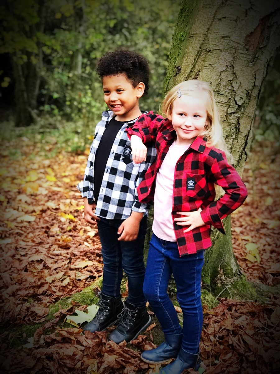 1b2c2d5dc ... Girls Lumberjill Brushed Flannel Kids Check Shirt - Red/Black - product  images of
