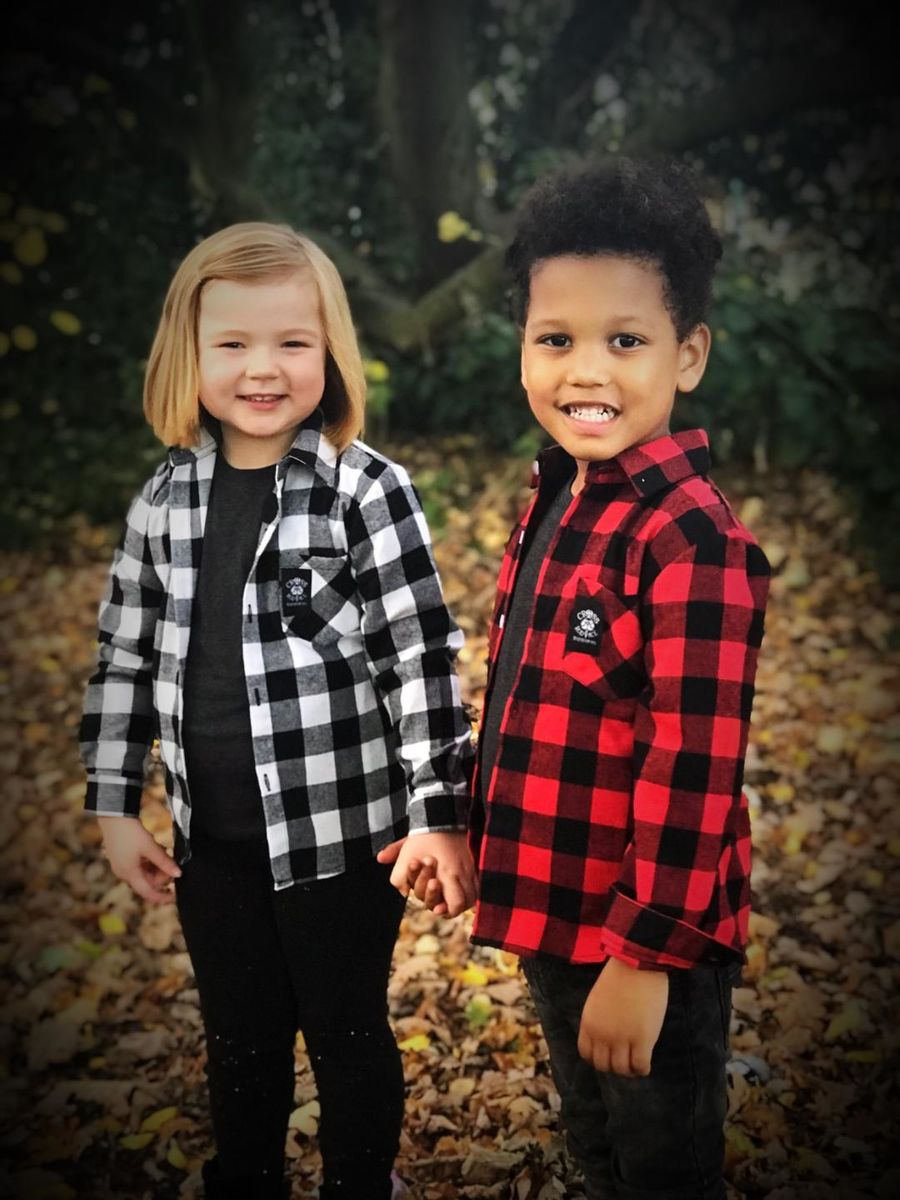 Boys Lumberjack Brushed Flannel Kids Check Shirt - Red/Black - product images  of