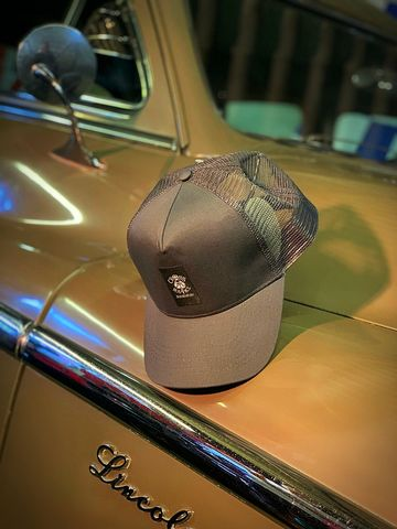 Grey,Panel,Mesh,Snapback,Cap,with,Center,Patch,Cross, Rod, Ace, www.CrossRodAce.com, CrossRodAce, Cental, Patched, Black, Snapback, Trucker, Hat, Cap, Hotrod, hot, rod, cars, bikes, choppers, bobber, hotrodder, kustom, lowrider, low, rider, drag, racing, racer, dragracer, hell driver, helldriver, nost