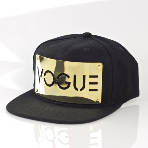 Vogue,18K,Gold,Snapback,Karl Alley, Vogue, GOLD,  Metal, plate, snapback, hat, boy london