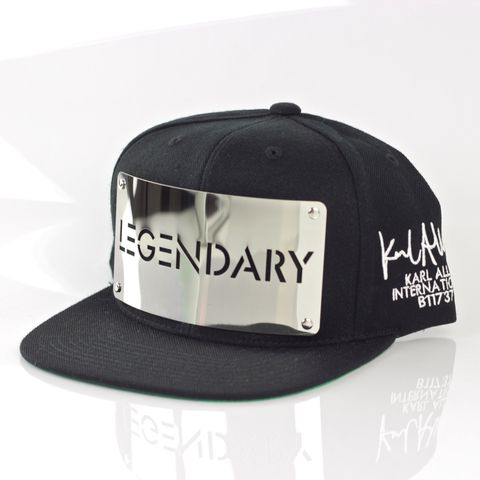 Legendary,Chrome,Snapback,(Archive),Karl Alley, Legendary Chrome Snapback, Metal, plate, snapback, hat, boy london