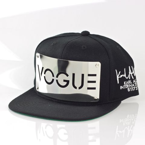 Vogue,Chrome,Snapback,(Archive),Karl Alley, Vogue Chrome Snapback, Snapback, Metal, plate, snapback, hat, boy london