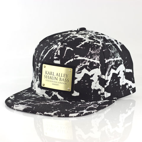 Karl,Alley,x,Shaun,Bass,Black,Marble,Snapback,(Archive),Karl Alley, Karl Alley x Shaun Bass, Shaun Bass, Black marble, Marble, Marble collection, metal plate, snapback, hat, cap, long clothing, boy london, #karlalley