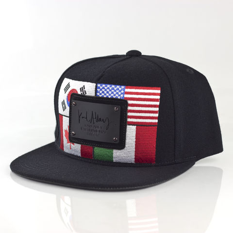 World,Flags,Signature,Snapback,(Black,-,Archive),Karl Alley, World flags, Metal plate, snapback, hat, cap, long clothing, boy london, #karlalley