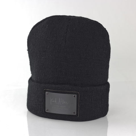 Karl,Alley,Signature,Beanie,(Black),-,Archive,Karl Alley, Karl Alley Signature, beanie, plate, snapback, hat, boy london