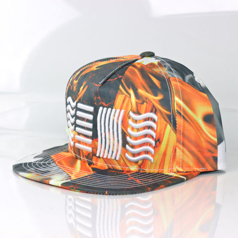 Fire,Snapback,(5,Elements),Karl Alley, Air, 5 elements, Metal, plate, snapback, hat, boy london