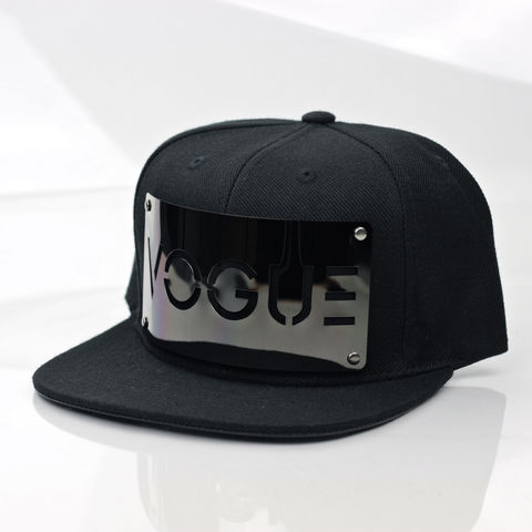 Vogue,Gunmetal,Snapback,(Archive),Karl Alley, Gunmetal, Gun Metal, Snapback, Metal, plate, snapback, hat, boy london