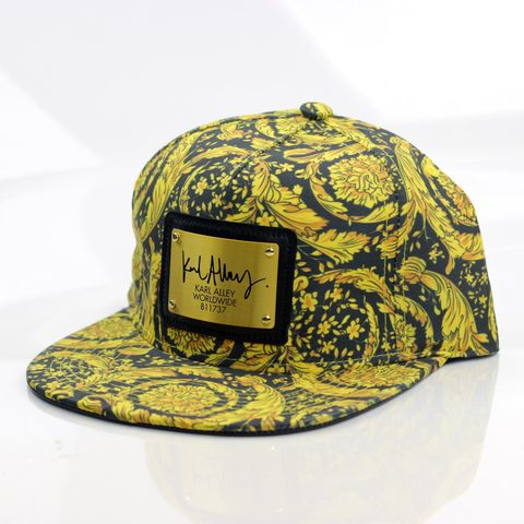 Baroque,Swirl,Snapback,(All-over),-,Archive,Karl Alley, Baroque Swirl, Metal plate, snapback, hat, cap, long clothing, boy london, #karlalley