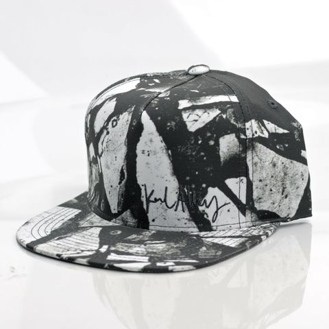 Stone,Snapback,Karl Alley, Stone, Metal, plate, snapback, hat, boy london
