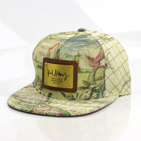 World,Map,Snapback,(All-over),-,Archive,Karl Alley, World map, Metal plate, snapback, hat, cap, long clothing, boy london, #karlalley