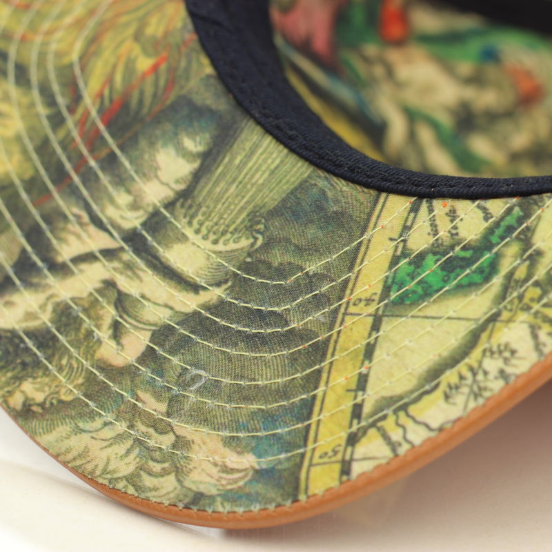 World Map Snapback (Leather) - product images  of