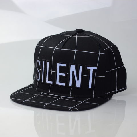 Silent,Reflection,Snapback,(Grid),Karl Alley, Karl Alley x Shaun Bass, Shaun Bass, Silent Reflection, Reflective, 3M, snapback, hat, cap, long clothing, boy london, #karlalley