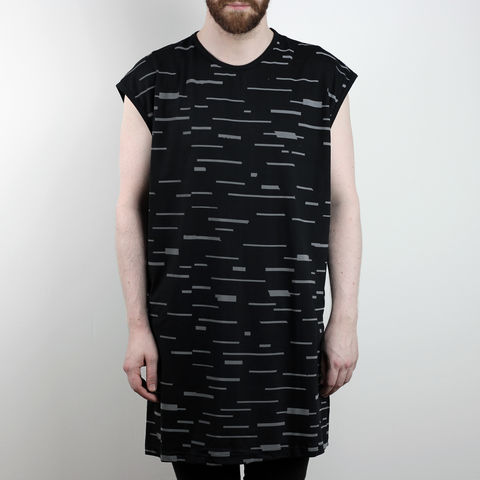 Silent,Reflection,-,Glitch,Sleeveless,Karl Alley, Shaun Bass, Stripes, Reflective, 3M, T-shirt, tee, long clothing, boy london