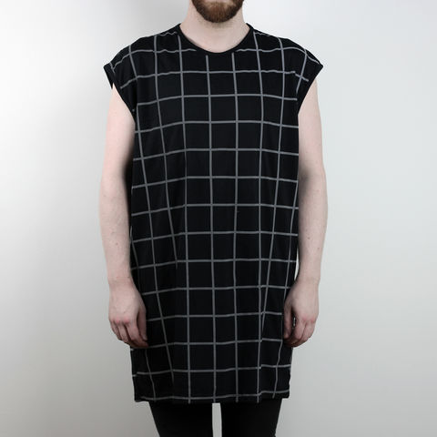 Silent,Reflection,-,Grid,Sleeveless,Karl Alley, Shaun Bass, Stripes, Reflective, 3M, T-shirt, tee, long clothing, boy london