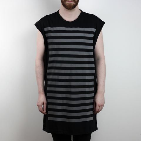 Silent,Reflection,-,Vertical,Stripe,Sleeveless,Karl Alley, Shaun Bass, Stripes, Reflective, 3M, T-shirt, tee, long clothing, boy london