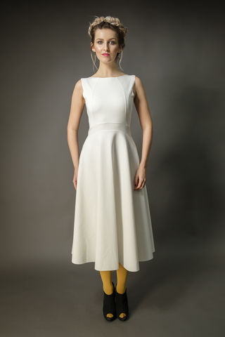 Dress,for,all,seasons,white, stretch, wool, dress, summer, fashion, wedding