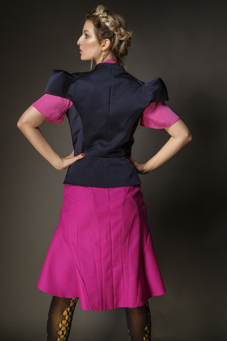 Origami,seam,skirt,wool, satin, skirt, work, summer