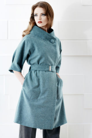 Nice,Winter,Warmer!,coat, blue, wool, 50s inspired, classic