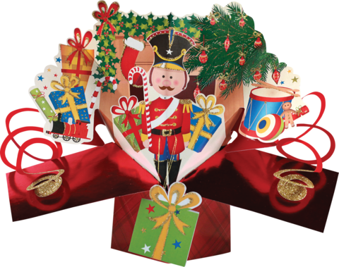 Second,Nature,Xmas,Petite,Pop,Ups,-,Nutcracker,Second Nature Pop Ups, Original Pop-ups, Pop up greeting card, Pop up, Pop-up, Pop-ups, Christmas Pop Up, Xmas Pop Up, Petite Pop Ups, Small pop ups, Nutcracker