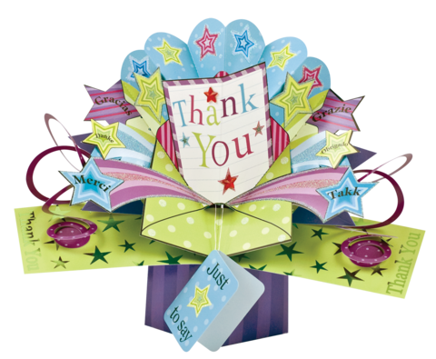 Second,Nature,Pop,Ups,-,Thank,You,Second Nature Pop Ups, Original Pop-ups, Pop up greeting card, Pop up, Pop-up, Pop-ups, Thank You, Stars